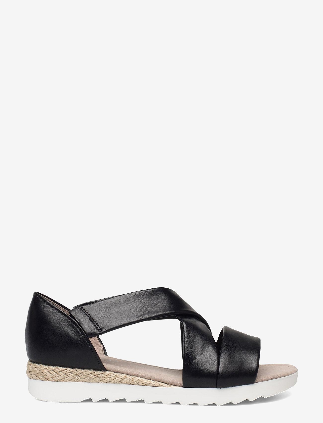 Gabor - Ankle-stap sandal - espadrilles mit absatz - black - 1