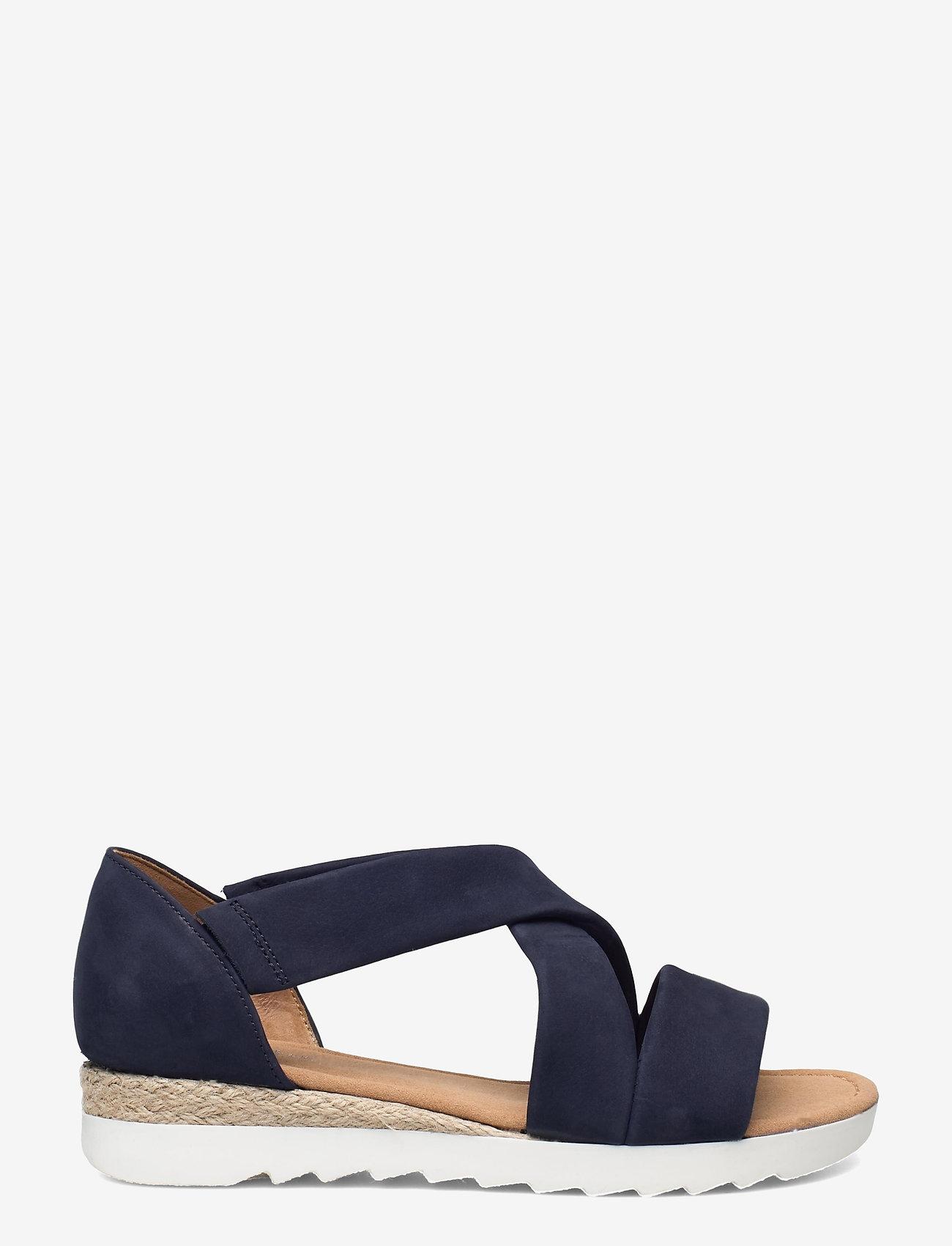Gabor - Ankle-stap sandal - espadrilles mit absatz - blue - 1
