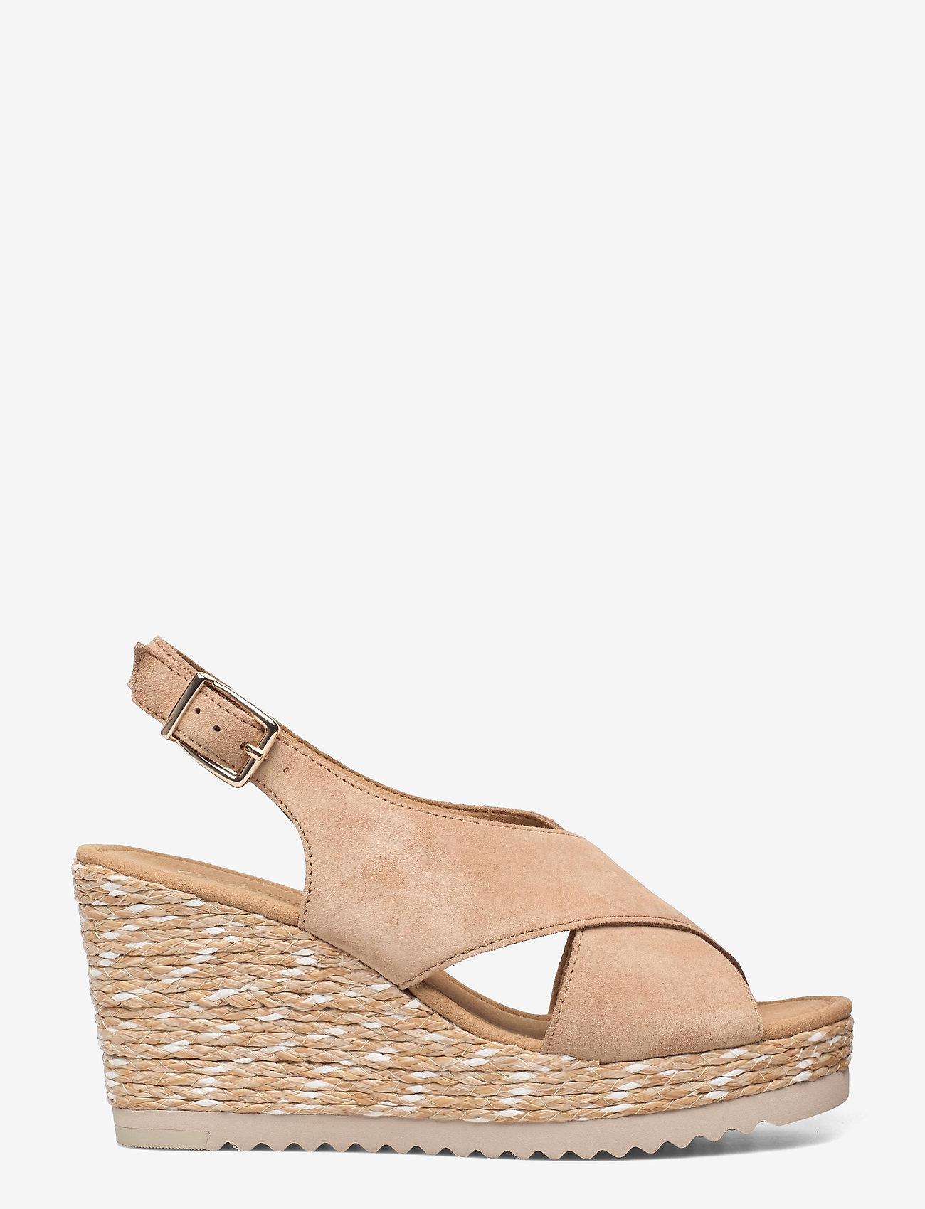 Gabor - Ankle-stap sandal - espadrilles mit absatz - beige - 1