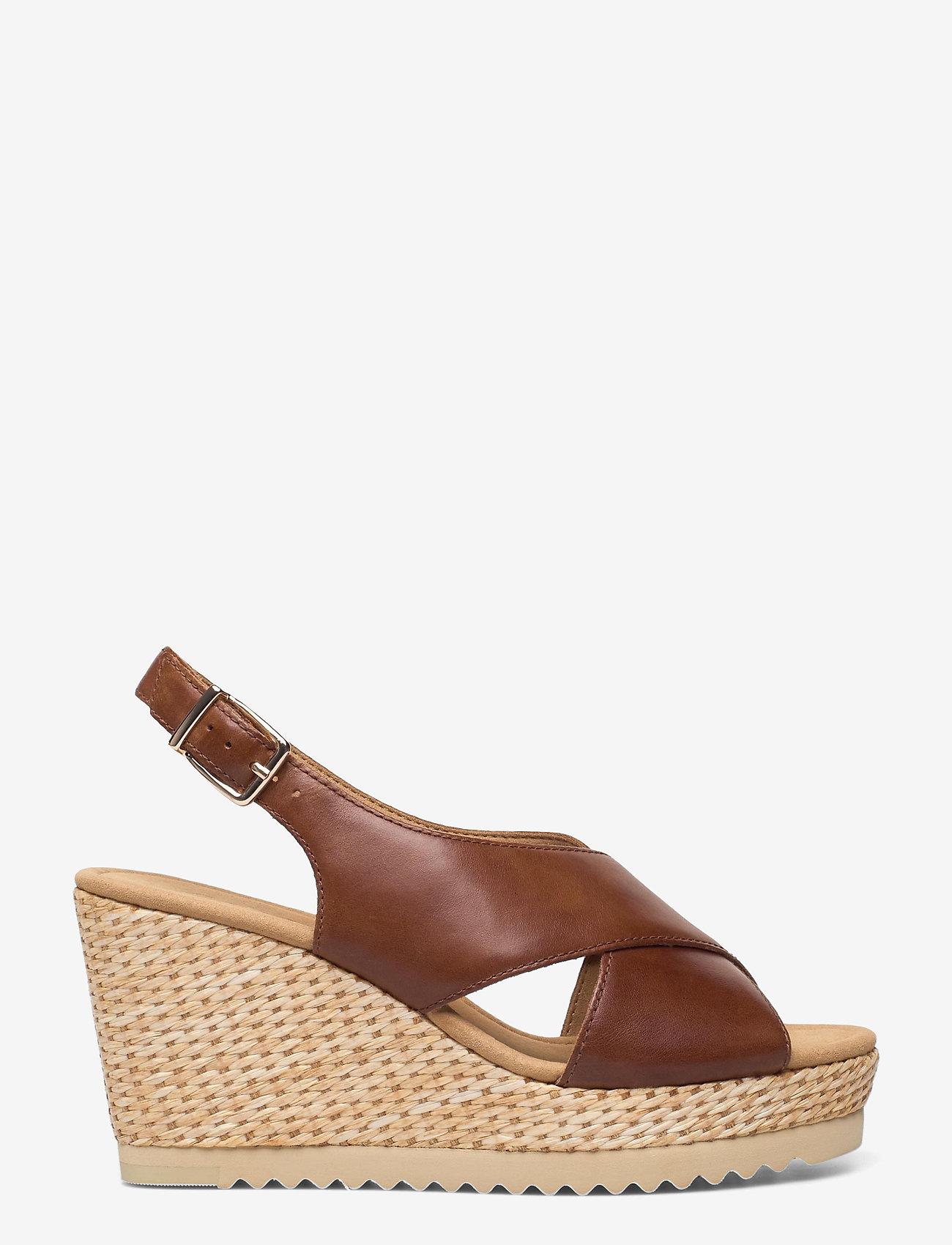 Gabor - Ankle-stap sandal - espadrilles mit absatz - brown - 0