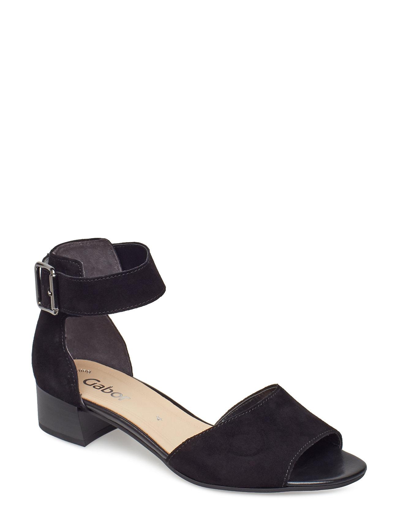 fdda15e6722 Sling Sandals højhælede sandaler fra Gabor til dame i Sort - Pashion.dk