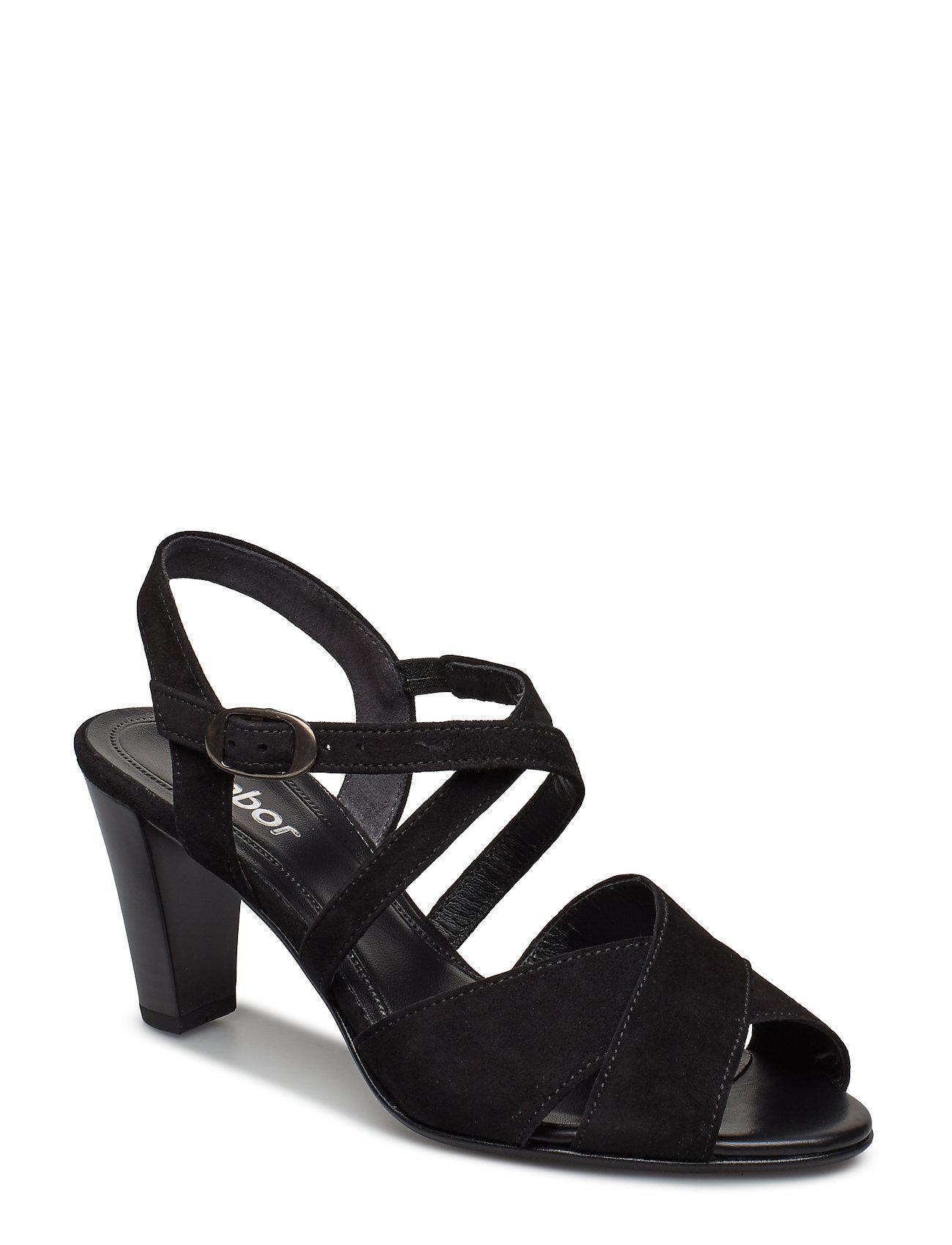 4df04c6ce35 Sort Gabor Sling Sandals højhælede sandaler for dame - Pashion.dk