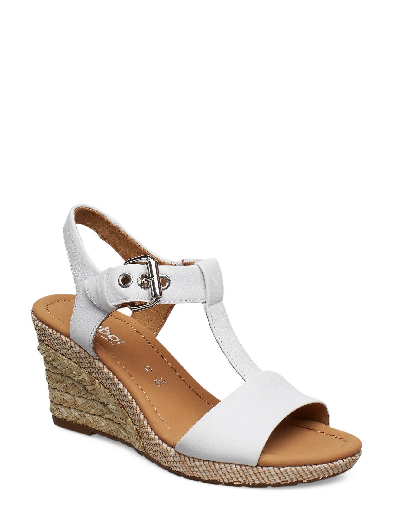 cfcae8662c7c Gabor espadrillos med kilehæl – Sling Sandals til dame i Hvid ...