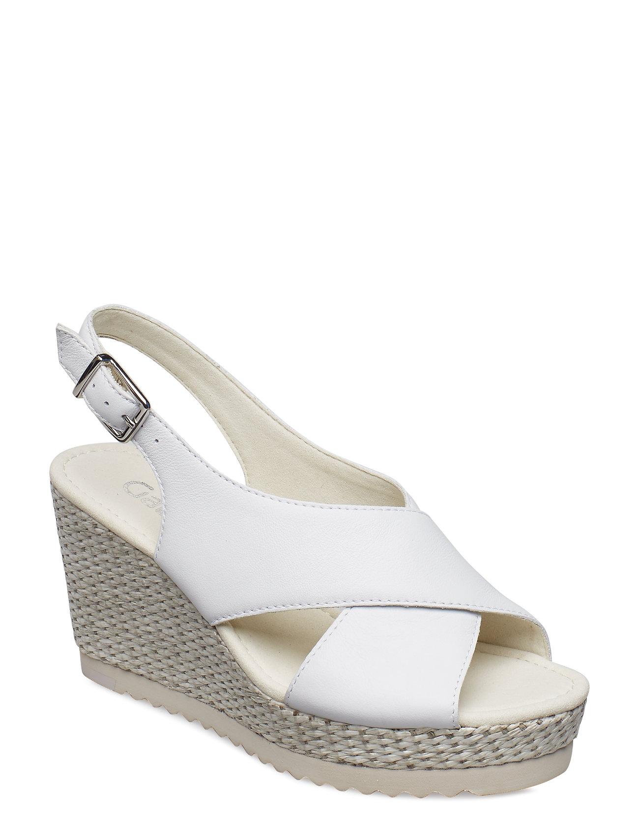 4525d5934ec2 Sling Sandals espadrillos med kilehæl fra Gabor til dame i Hvid ...