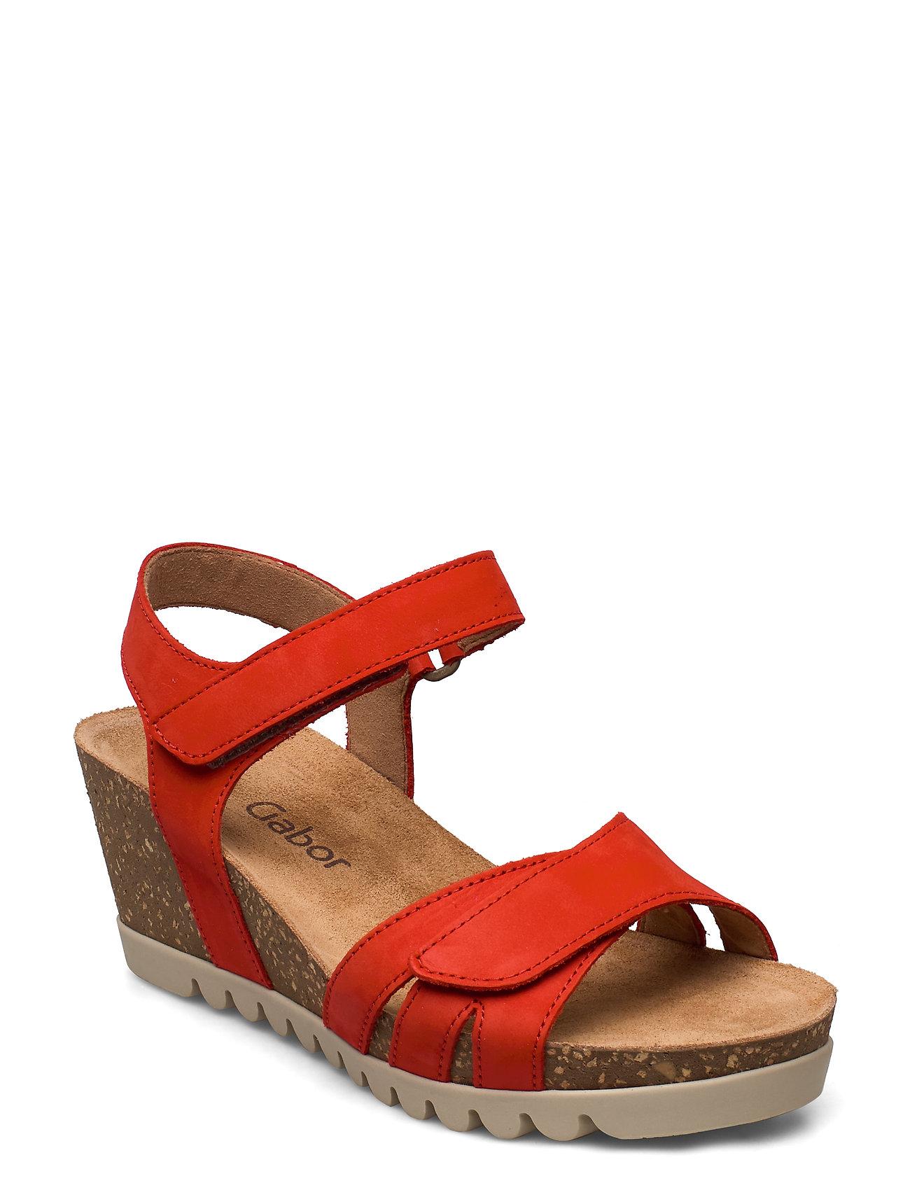 Image of Sandals Sandal Med Hæl Rød Gabor (3448149015)