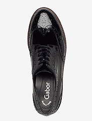 Gabor - Slip-ons - buty sznurowane - black - 3