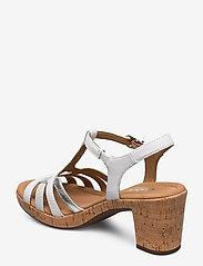 Gabor - sandals - høyhælte sandaler - white - 2