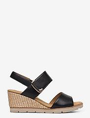 Gabor - sandals - espadrilles met sleehak - black - 1