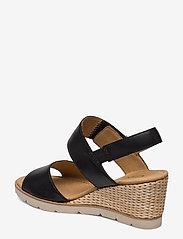 Gabor - sandals - espadrilles met sleehak - black - 2