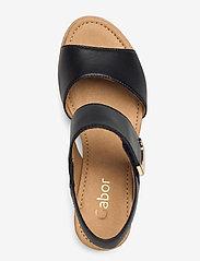 Gabor - sandals - espadrilles met sleehak - black - 3