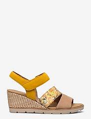 Gabor - sandals - espadrilles met sleehak - brown - 1