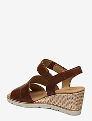 Gabor - sandals - espadrilles met sleehak - brown - 2