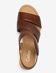 Gabor - sandals - espadrilles met sleehak - brown - 3
