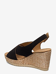 Gabor - sandals - espadrilles met sleehak - black - 2