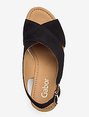 Gabor - sandals - espadrilles met sleehak - black - 3