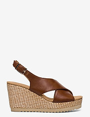 Gabor - sandals - espadrilles met sleehak - brown - 1