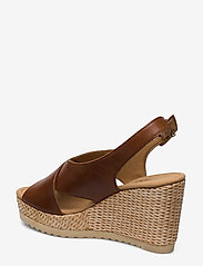 Gabor - sandals - espadrilles met sleehak - brown - 2