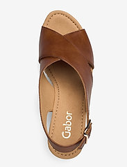 Gabor - sandals - espadrilles met sleehak - brown - 3