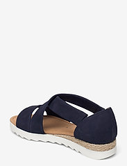 Gabor - Ankle-stap sandal - espadrilles mit absatz - blue - 2