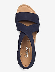 Gabor - Ankle-stap sandal - espadrilles mit absatz - blue - 3