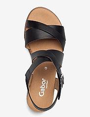 Gabor - Ankle-stap sandal - espadrilles mit absatz - black - 3