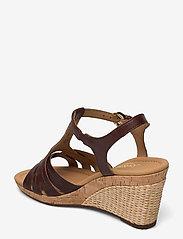 Gabor - Ankle-stap sandal - espadrilles mit absatz - brown - 2