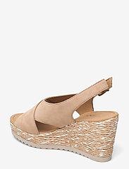 Gabor - Ankle-stap sandal - espadrilles mit absatz - beige - 2