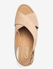 Gabor - Ankle-stap sandal - espadrilles mit absatz - beige - 3