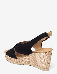 Gabor - Ankle-stap sandal - espadrilles mit absatz - black - 2