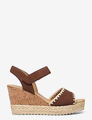 Gabor - Ankle-stap sandal - espadrilles mit absatz - brown - 1