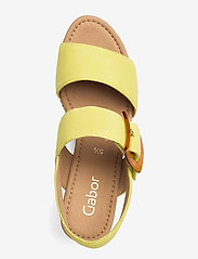 Gabor - Ankle-stap sandal - espadrilles mit absatz - green - 3
