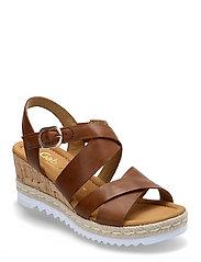 Ankle-stap sandal - BROWN