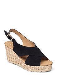 Ankle-stap sandal - BLACK