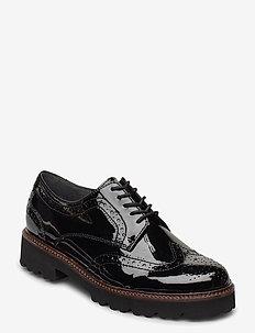 Slip-ons - buty sznurowane - black