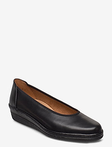 Wide fit slip-ons - ballerinas - black