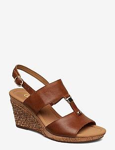 Sling Sandals - BROWN