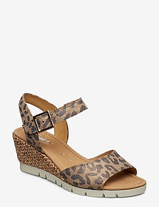 Sling Sandals - heeled espadrilles - multi coloured