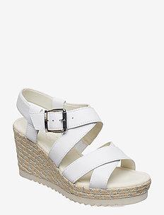 Sling Sandals - heeled espadrilles - white