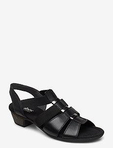 sandals - korolliset sandaalit - black