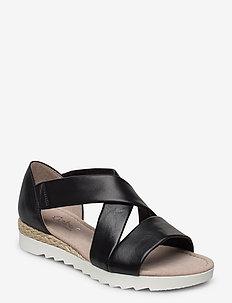 sandals - platte sandalen - black