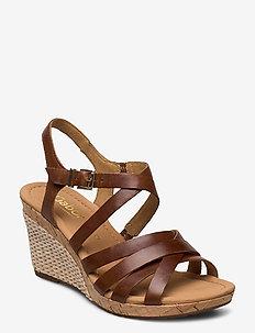 sandals - espadrilles med hæl - brown