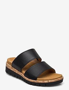 sandals (mules) - flate sandaler - black