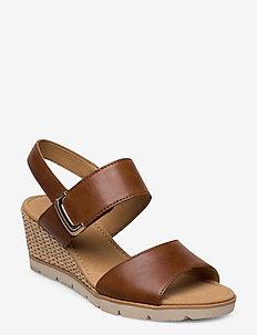 sandals - heeled espadrilles - brown