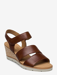 sandals - espadrilles met sleehak - brown