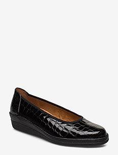 Comfort shoe - sleehakken - black
