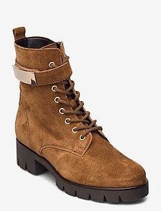 Ankle boot - flate ankelstøvletter - beige