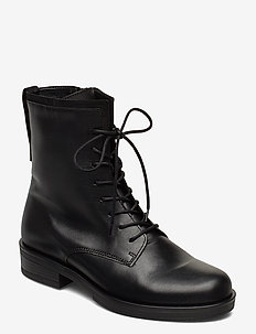 Ankle boot - flate ankelstøvletter - black