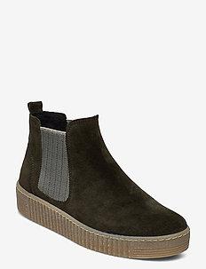Ankle boot - niski obcas - green
