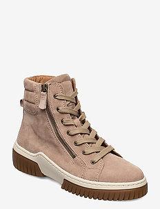 Ankle boot - sneakers med høy ankel - beige