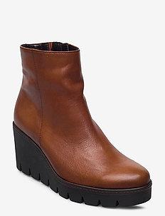 Ankle boot - enkellaarsjes met hak - brown